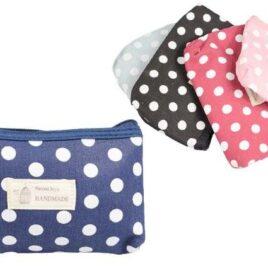 Kosmetická taška s puntíky Handmade