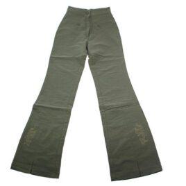 Dětské zvonové kalhoty zelené
